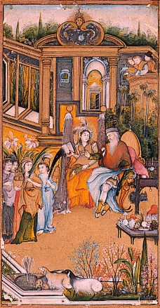 Pentecost 16 Solomon and Queen of Sheba.  1760 Made in Uttar Pradesh, India, late Mughal.  San Diego Mus of Art