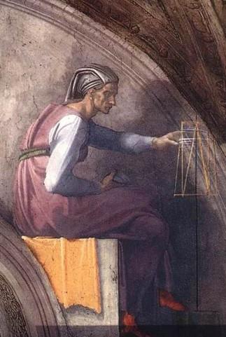 Replace 12 Solomon, Michelangelo Buonarroti, Fresco, 1508 -12, Sistine Chapel
