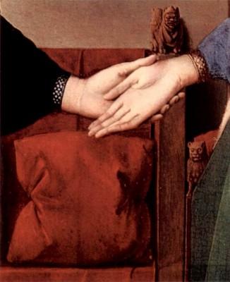 Pentecost 23, Arnolfini Wedding detail, Jan_van_Eyck, 1434, Natl Gallery, Britain
