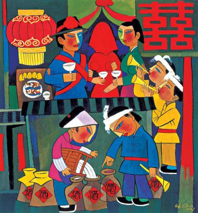 Pentecost 23 Wedding at Cana, He Qi, 2001 Nanjing China