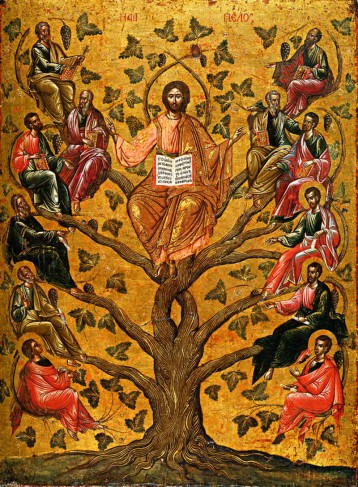 Replace 10  Eastern Orth Icon of Jesus as_the_True_Vine, 15th c.  Athens Greece