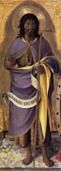 Advent 3  Fra Angelico  John the Baptist Perugia Italy Altarpiece 1437