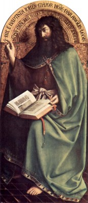 Advent 3, John the Baptist, Altar of the Mystical Lamb, Jan_van_Eyck, 1526, Ghent, Belgium