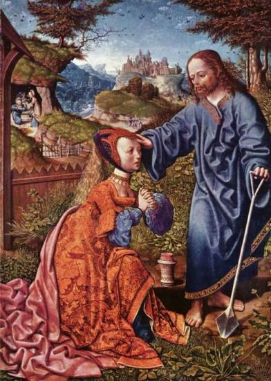 Easter Noli Me Tangere, by Jacob_Cornelisz._van_Oostsanen, 1507 Kassel, Netherlands