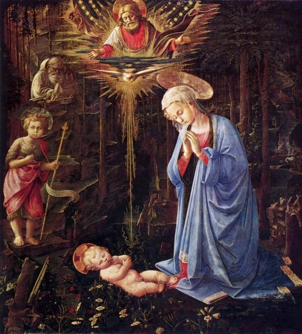 Trinity Sunday, Adoration of the Child, Fra_Filippo_Lippi, 1459, Berlin, Vanderbilt