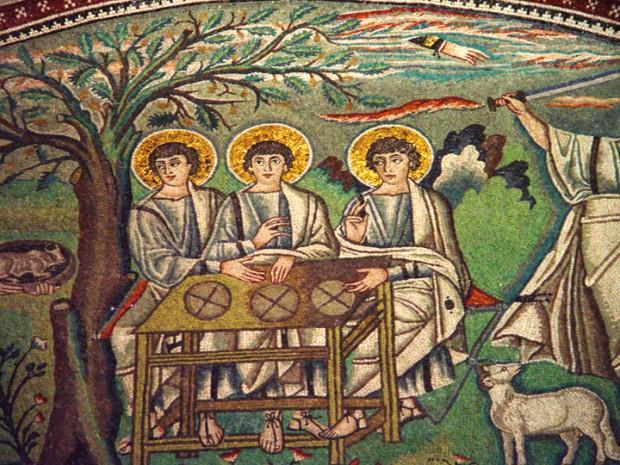 Abraham's Three Visitors Basilica di S. Vitale, Ravenna, Italy. Mosaic Vanderbilt