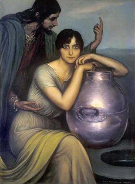 Christ and the Samaritan Woman at the Well, Romero de Torres, Julio, 1874-1930, Cordoba, Spain, Museo, Vanderbilt