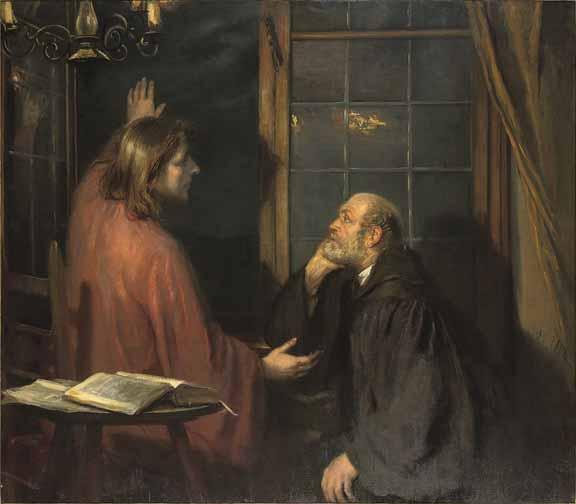 Niceodemus and Christ. Fritz von Uhde, circa 1896 Private Collection Vanderbilt
