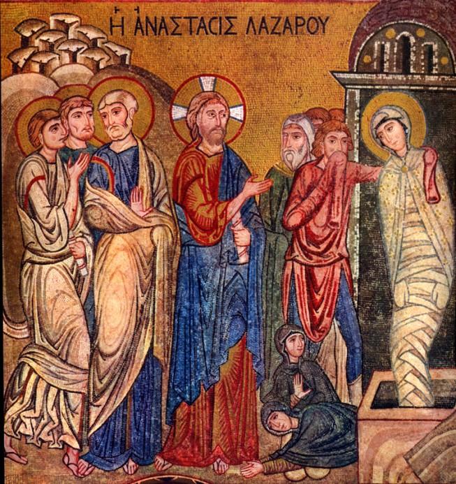 Raising of Lazarus mid 12th c. Cappella di Patina di Palermo Italy vanderbilt