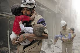 Syrian children after chemical attack. eewiki -yalint. com