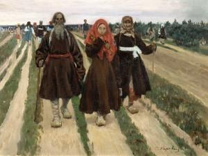 To the Pentecost, Korovin, Sergeĭ Alekseevich 1902 Tretiakov Gallery Moscow Vanderbilt