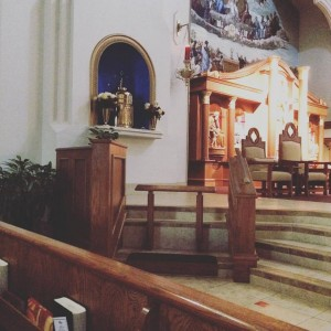 The Tabernacle at my Parish where I spend a lot of time asking Jesus for help with my life.