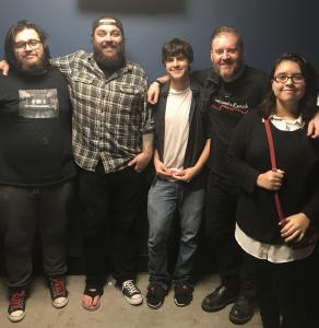 Dan, Gabe, and Felecity with Shaun and Dale from Seether
