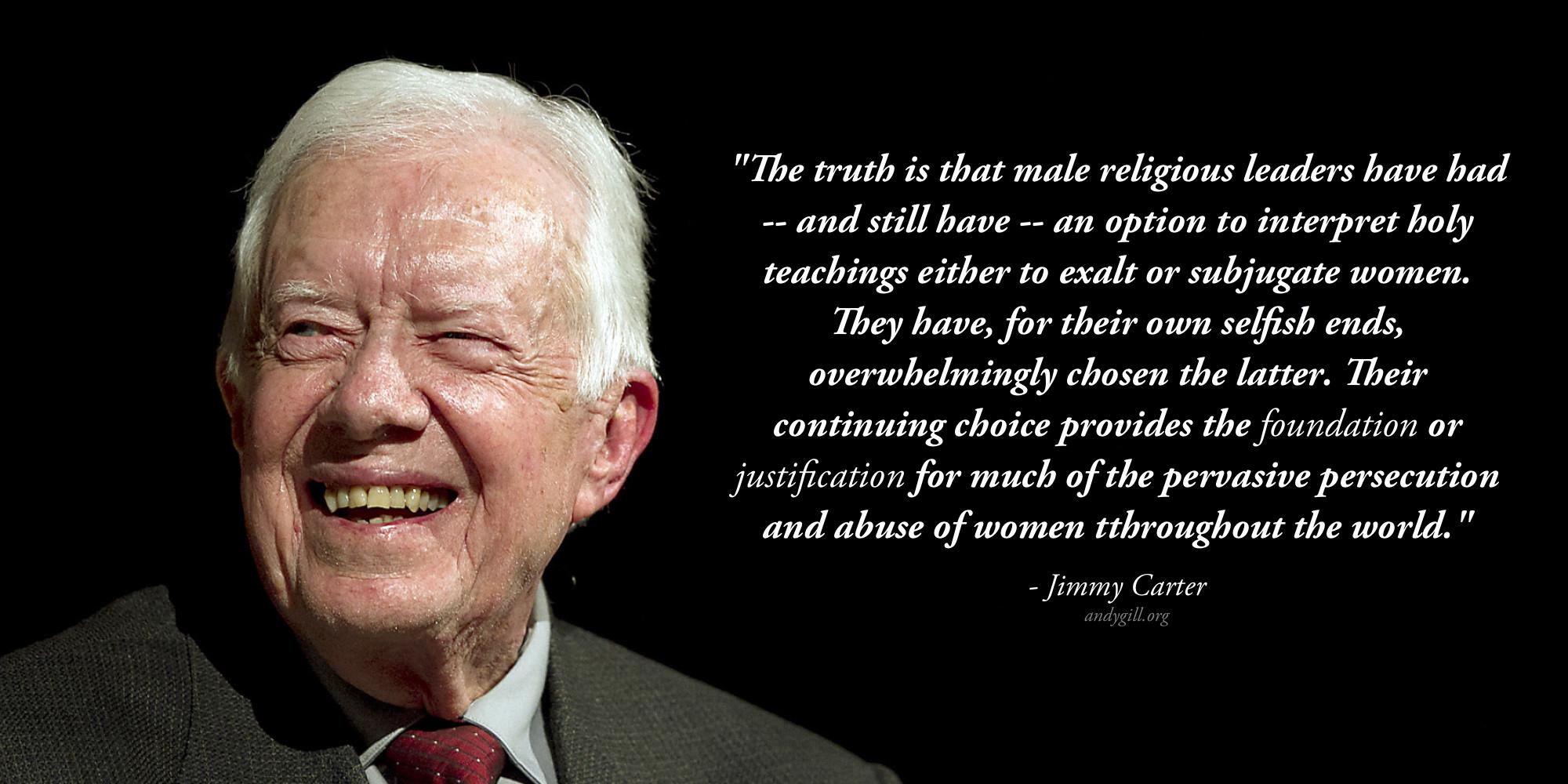 Jimmy Carter on Patriarchy
