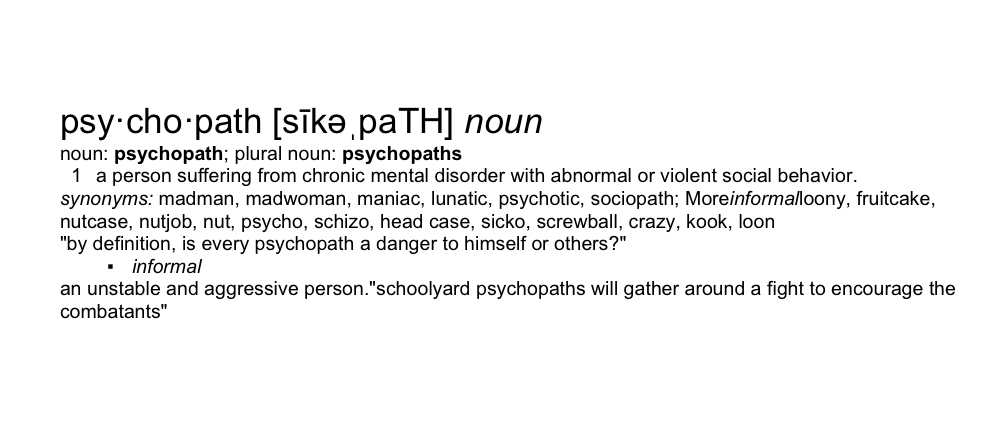 whats the definition of a sociopath