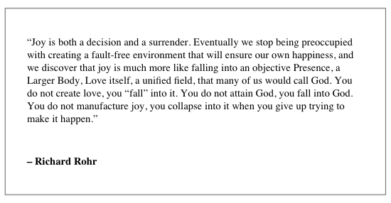 Richard Rohr Joy Quote Andy Gill
