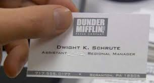 Dunder Mifflin Assistant to the Manager Andy Gill