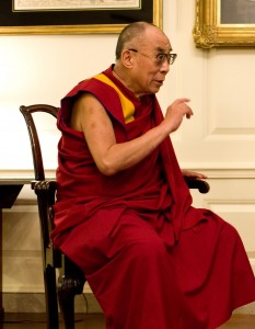 His Holiness the Dalai Lama practices tonglen.
