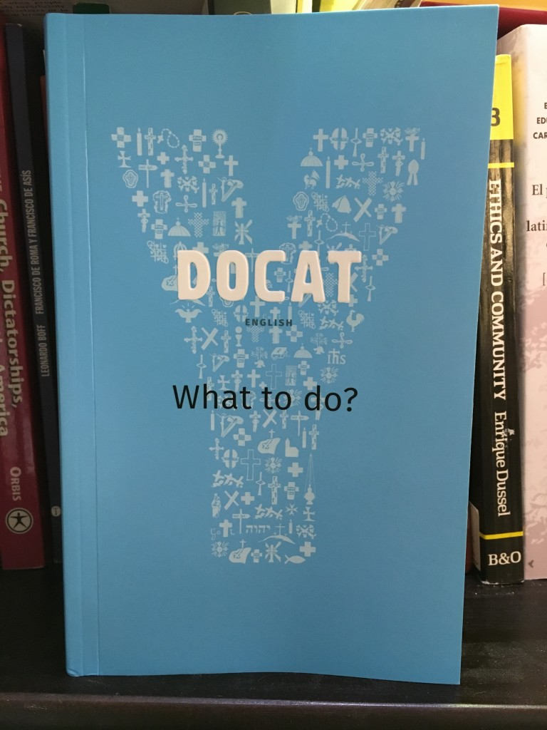 A copy of the DOCAT in English.