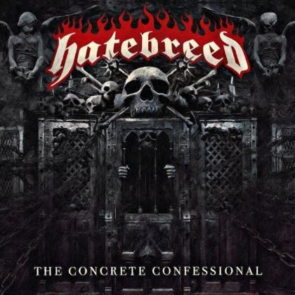 Cover art for The Concrete Confessional album by American heavy metal musical ensemble Hatebreed. Fair use, low-resulution, illustration of work being discussed.