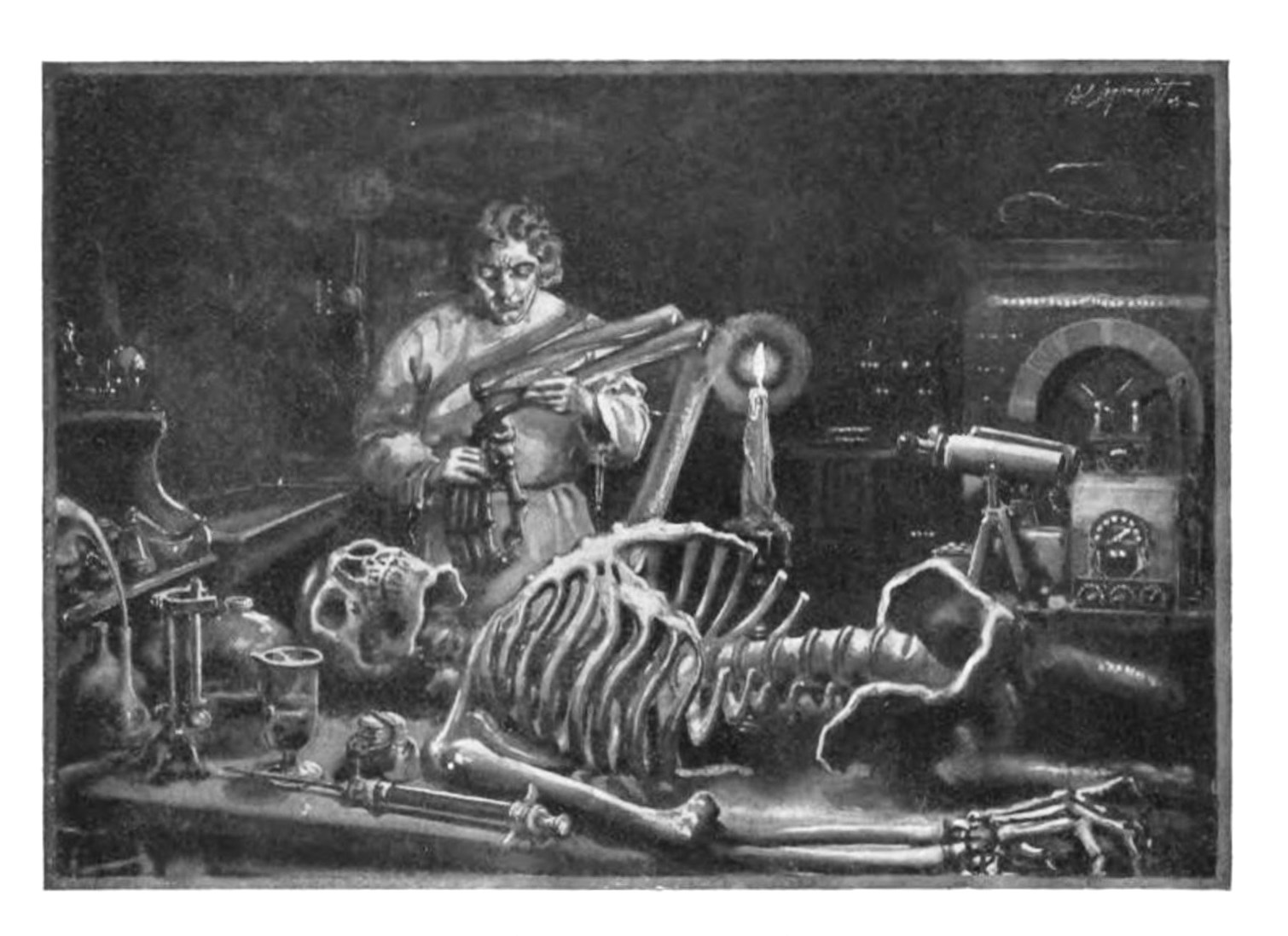 Mary Shelly's Frankenstein: or, The Modern Prometheus, one of the earliest examples of soft science fiction. Public Domain.