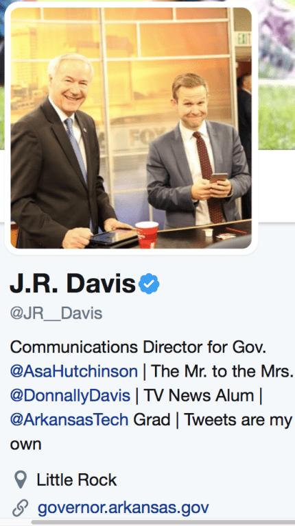 Mr. Davis' profile and description from Twitter.