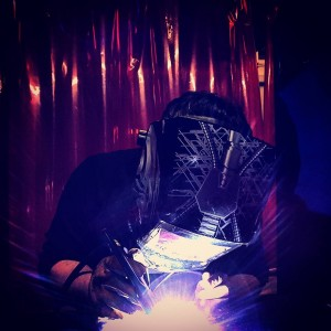 Number Two Son welding--personal photo