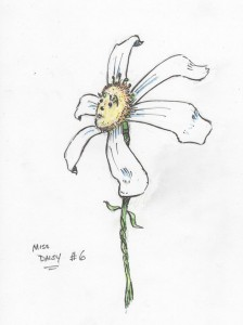 Daisy--a preliminary drawing by moi.