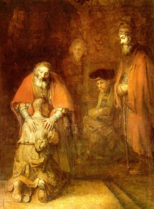 Rembrandt painting of prodigal son