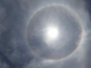 After proclaiming the decree of beatification, a solar halo appeared over the faithful