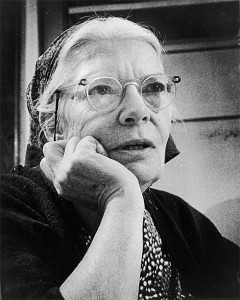 Me looking at For Her on my laptop. Just kidding .It's Dorothy Day.