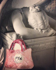 The Goddess Nyx's pink purse of death (photo by author)
