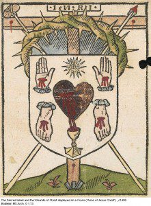 The Sacred Heart and Five Wounds of Christ (source: Bodleian Library Archives)