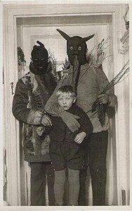 All good parents play Krampus with their kids, right? (vintage photo via the amazing Tumblr: Black and WTF)