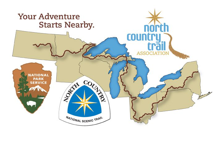 From the North Country Trail Association Website, promotional map.