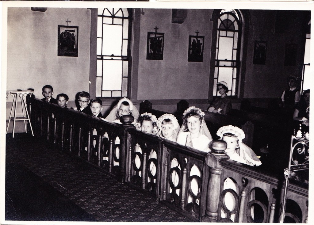 We all come to the Eucharist. (Vintage Public Domain Photo)