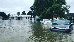 """My sister, Pat, has two daughters in Baton Rouge. One daughter has a flooded house and the other can't get out of her house because their neighborhood is flooded. Water is now on her driveway creeping toward front door. This is so sad. I think I have worn Mother Mary out and St. Theresa!"" Christine Prudhomme"
