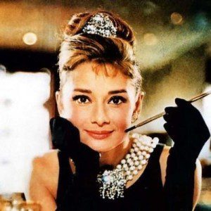 Audrey as Holly Golightly in Breakfast at Tiffany's