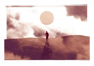 Art by the arid and desert-like Brian C. Jocks.