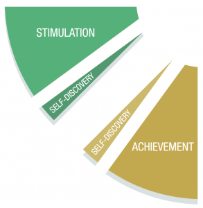 Diagram - Stimulation, Self-Discovery & Achievement