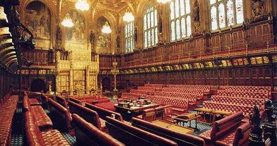 """By Terry Moore - """"House of Lords Chamber: throne"""", archived version of the page from the UK Parliament website's image gallery, which is out of service as of February 2011., https://en.wikipedia.org/w/index.php?curid=30780035"""
