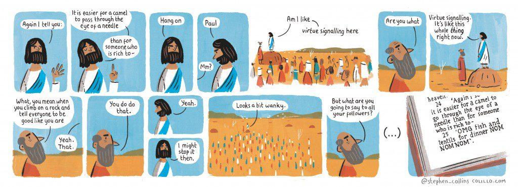 Stephen Collins on virtue signalling – cartoon