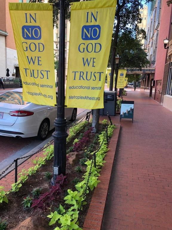 'In No God We Trust': Atheist Group Gets Heat over Banners