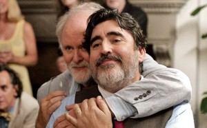 Ben (John Lithgow) and George (Alfred Molina) at their wedding reception