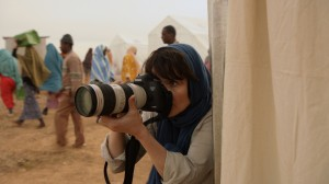 Rebecca and her camera's eye in a Kenyan refugee camp