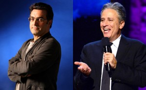 Maziar Bahari (the real one) and Jon Stewart