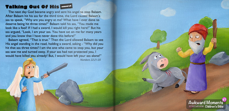 Awkward Moments Children's Bibe 0 Talking Donkey Ass
