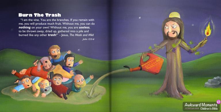 Awkward Moments Children's Bibe - Jesus as the vine