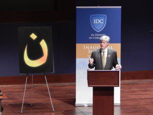 U.S. Rep. Jeff Fortenberry speaking about ISIS genocide (Photo Credit: Faith McDonnell)