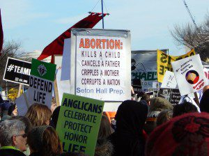 March for Life Signs and People